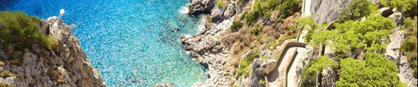 beautiful Italy coast of Capri